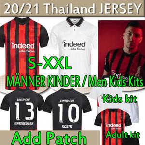 Eintracht Frankfurt Fussball Jersey 2020 2021 Jovic Rode Silva Kamada HintereGger Männer + Kinder Kit Fußball Trikots Frankfurt Trikot des Fußballs
