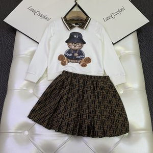 top quality kids clothing sets kids clothes girls tops jacket sweatshirt sweaters skirt dress 2pcs sets5GGD