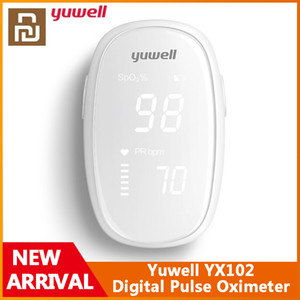 Original Xiaomi Youpin Yuwell YX102 Digital Fingertip Pulse Oximeter LED Screen Care for Health High-speed Sensor Auto Power Off