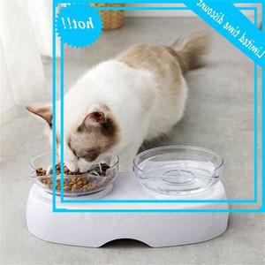 CAT Proteger cuello Sweep Bowls vienen Soporte elevado Cats Feeding Feating Supplies Doble Bebidas