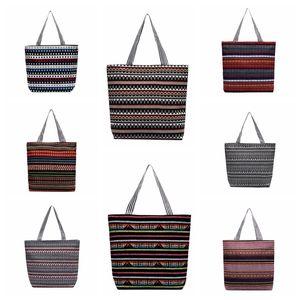 Цветочный шаблон сумки Женщины Повседневная хозяйственная сумка Холст Сумка Экологичный многоразовый Бакалея хранения сумки Девушка Tote Bag