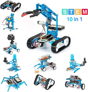 MakeBlock DIY Ultimate Kit Premium Quality 10-en-1 Robot STEM Education MegAPI - Scratch 2.0 para niños, mayores de edad de edad LJ200919