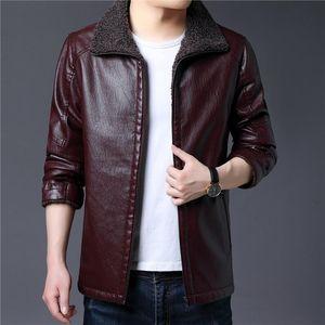 Men's Fur & Faux Mens Jacket 2021 Style Autumn Winter Leather Jackets Motorcycle Male Biker Coats Brand Clothing