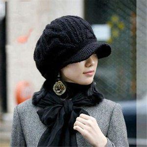 Женские зимние Hat Beanies Knit Зимние шапки для женщин Ladies Beanie девушки Skullies Caps Bonnet Femme SNAPBACK Шерсть Теплый Hat
