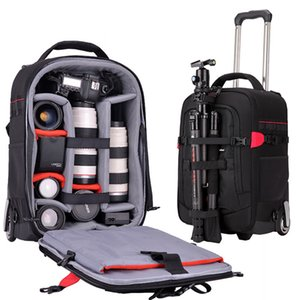 Brand Trolley suitcase camera bag shoulder multi-function professional bag with wheels new large capacity trolley travel luggage LJ201114