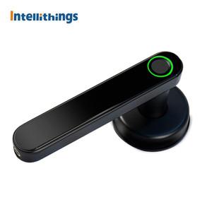 Tuya Bluetooth ingerprint Lock Intelligent Security Door Lock Encryption Smart Life App Card Unclock APP Google Home Control