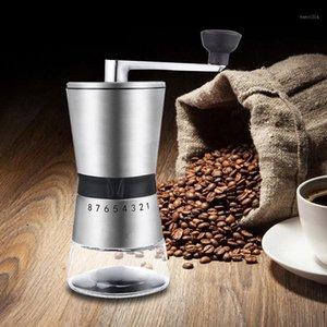 Yeni Manuel Kahve Taş Dayanıklı Paslanmaz Çelik El Krank Taşlama Konik Seramik Kahve Öğütücü Değirmen Bean Öğütücü Aracı1
