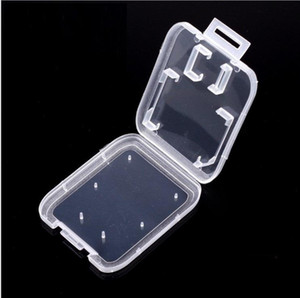 Transparent Clear Standard SD SDHC Memory Card Case Holder Box Storage Carry Storage Box for SD TF Card