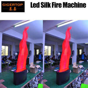 TIPTOP Whole Sale LED Stage Simulate Spray Fire Machine Silk Flame Projector 36 x 10mm Led Fire Flame Machine For Party New Year