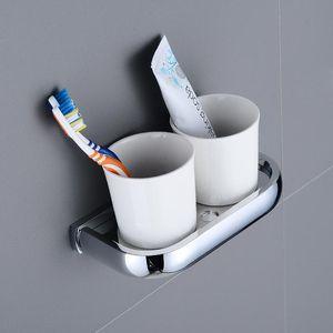 Chrom poliert Messing Square Bathroom Hardware Tuch Regal Handtuch Bar Papierhalter Tuch Haken Badezimmer Zubehör KD1443 BBYAVA MJ_BAG