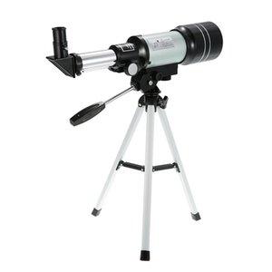 F30070M Monocular Outdoor Telescope HD 150X refracção telescópio astronômico H6mm / H20mm Ocular com tripé Barlow Lens
