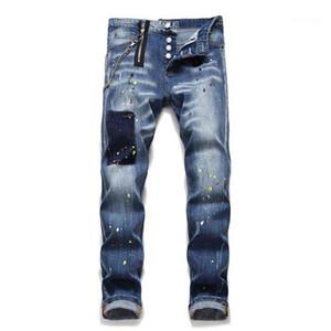 Progettista del Mens pantaloni a matita Vintage con pulsante di moda casual da uomo pantaloni 2021 nuovi arrivi stirata sottili Jeans