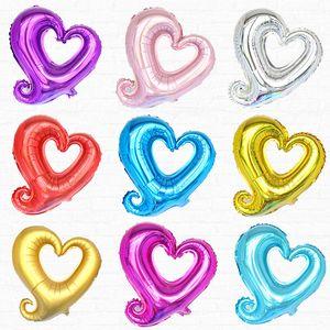 18inch Hollow Heart Shape Foil Balloons Helium Balloon Wedding Valentine's Day Birthday Party Ballon Decoration Supplies