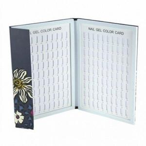 Профессиональный Новый Ложные Nail Color Book Польское Gel Color Card Display Book Nail Art Показаны полки Маникюр BVXj #