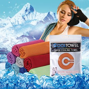 Sports cold towel fast cooling fitness running sweat absorption cooling cold outdoor mountaineering sports wipe ice towel AAD2318