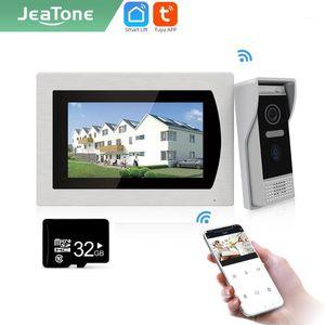 "Jeatone Tuya smart 7""inch WIFI indoor Monitor doorbell IP video intercom record video snapshot AHD 720P32G 877121"