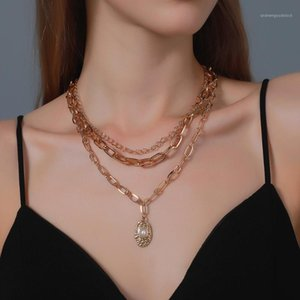 3 Layered Necklace for Women 2020 Gold Chain Necklace Cross-border Hot Sale Thick Chain Stacked Hip-hop Accessories For Female1
