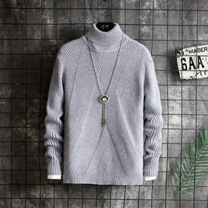 2021 Neue Frühling Rollkragenpullover Für junge Männer Koreanische Mode Linie Pullover 5628