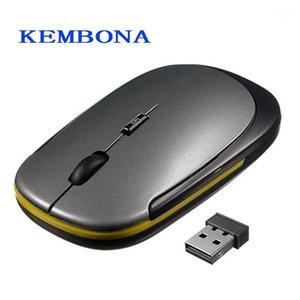 MICE KEMBONA 2.4 ГГц Мини беспроводной оптической мыши USB-приемник SLIM 1600 DPI для Mac PC портативный компьютер Mouse1