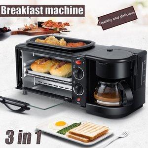 Elektrische 3 in 1 Frühstücksmaschine Multifunktionskaffeemaschine Mini Pizzaofen Egg omelette Bratpfanne Toaster Frühstücksmaschine1
