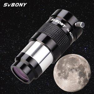 "Svbony 1.25 ""Telescópio EyePiece Barlow Lens 3x Totalmente Multi-revestido Metal Advanced Acromatic Profomatic Profromatic Telescope 201106"