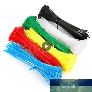 كابل التعادل البريدي إبزيم الدائري يلتف حزام النايلون كابل العلاقات الذاتي قفل البلاستيك الملونة 100 قطع الملحقات ربط العلاقات الدائمة