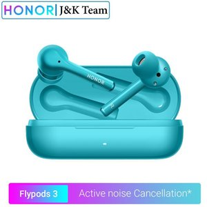 Honor Flypods 3 Wireless Headphones ativo de ruído Cancelamento Bluetooth 5 .0 fone Tws Headphone microfone duplo