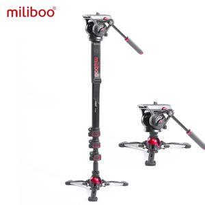 Miliboo Portable Professional DSLR Monopod Poy Plick с мини-штативным стендом Базовый штатив Ballhead для Canon Nikon 188 / 80см Q0112