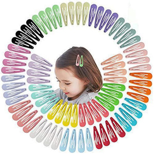 5cm Mix Color Solid Color Metal HairGrip Girls Snap Capelli clip per bambini Accessori per capelli Baby Accessori Donne Barrettes Clip Pin