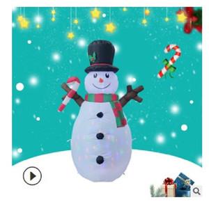 2021 heißen Verkauf der heiße neues Weihnachten neues Produkt aufblasbarer Zweig Schnee Modell 1.6m Farbe Lampe rotierende Weihnachtsdekoration