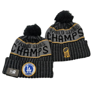 Baseball Los Angeles LA Beanies 2020 world series champs Beanie Embroidered Cuffed Knit Hat Sport Skull Knitting Winter Hats for Men Women
