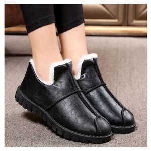Zapatillas para mujer Slippers Old Style Warm Llush Outside Slippers Mujeres de invierno Casa Zapatos Casual Cuero Mujer