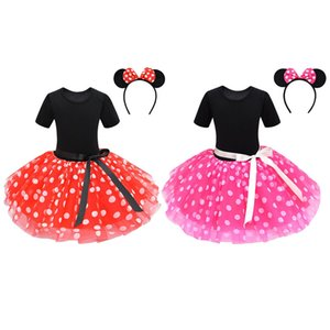 {Sweet Baby} Baby Tutu Dot Skirt With Bow & Dress & Headband 2pcs set Girls Birthday Photography Dress Kids Halloween Princess Party