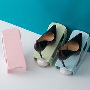 Shoe Hanger Durable Shoe Organizer Footwear Support Slot Space Saving Cabinet Closet Stand Shoes Storage Rack Shoebox