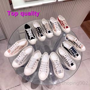 2021 جودة عالية كلاسيكية السيدات المشي N 'Dio أحذية رياضية أبيض وأسود Houndstooth التطريز 30 Montaigne عارضة أحذية رمادي منخفض الأعلى الصنادل