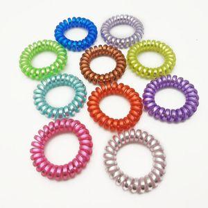 Farbe Größe 4cm Elastische Haarbänder Spiralform Pferdeschwanz Krawatten Gummi Seil Telefondraht Q Qyloba