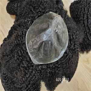 superior quality thin skin men's toupee human hair thin skin hair system men toupee human hair curly