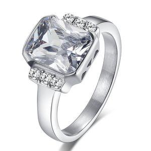 2 ct otto otto frecce diamanti cuore delle donne d'acciaio Emulational diamante anello anello in titanio Gli anelli di nozze formato 5.6.7.8.9