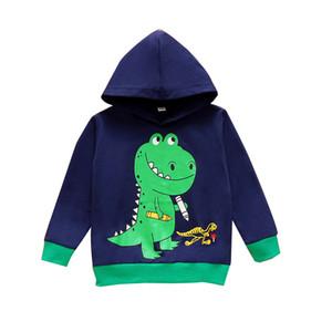 Bambini Boys Hoodies Baby Cartoon Maglione Toddler Dinosauro Stampato Vestiti Baby Boys Casual Abiti Casual BAMBINI BAMBINI Top 061024
