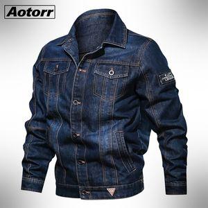 Spring Autumn Denim Jacket Men's Lapel Embroidery Casual Mens Jeans Jackets Multi-pocket Male Cowboy Coats Bigig Size 6xl Solid