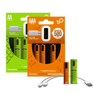 Аккумуляторная аккумуляторная батарея NIMH AA 1.2V 1000MAH USB Аккумуляторная батарея никеля металлическая батарея с микросхемой Micro USB