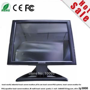 1 سنة الضمان 17 بوصة TFT LCD 4: 3 1024 * 768 VGA DVI DC12V مدخلات 4/5 سلك USB RS232 شاشة تعمل باللمس مقاوم الطرفية