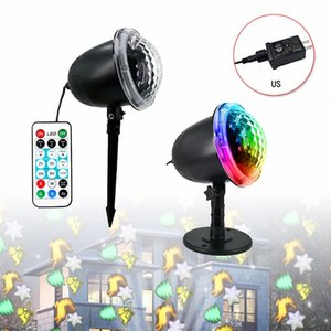 Convenient Snow Falling LED Moving Laser Projector LED Snowflake Landscape Garden Lamp Home Decor Supplies h2Aq#