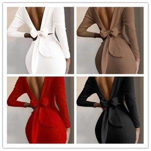 DUAI FEMMES Mode Sexy Mini long et broderie Holdess Highless Handless Manche Vocation Robe Dresshigh Quality Robe noire