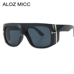 ALOZ MICC Steampunk Sunglasses Men Brand Designer Vintage Oversize Unisex Sun Glasses Women square Rivet Oculos Q675