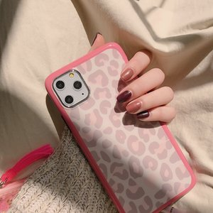 Fashion Leopard Print Case for IPhone 11 Pro Max X XS XR Cute Pink Phone Cases for IPhone 7 8 Plus SE 2 2020 Soft Silicone Cover