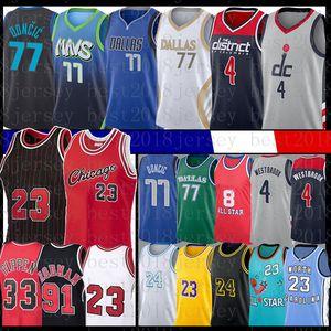 4 Russell Luka 77 Westbrook Doncic Scottie 33 Dennis Pippen Rodman Los 23 Angeles Basket Basket Jersey 3 Anthony Kyle Davis Kuzma Dirk Nowitzki