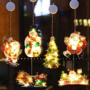 Natal decorações Natal conduzido ornamentos feriado vestido para cima loja janela cena decoração presentes de natal caixas embalagens xd24108