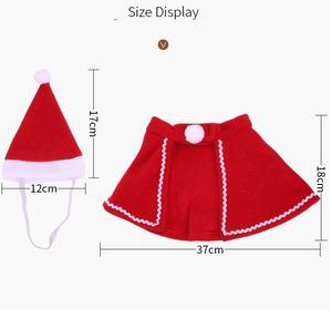 Weihnachten Haustierhut Warp Sets Teddy Dog Cape Hut Kleid Mantel Weihnachten Haustier Full Kleid Dekor Weihnachten Haustierhut Kap Cape Suitdog Bekleidung GWE2018
