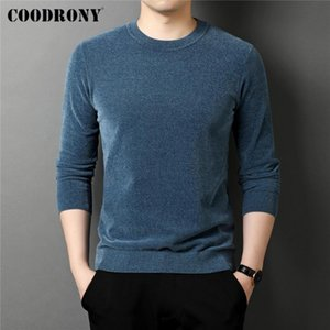 COODRONY Brand Spring Autumn High Quality Fashion Casual Long Sleeve O-Neck Knitwear Sweater Pullover Shirt Men Clothing C1264